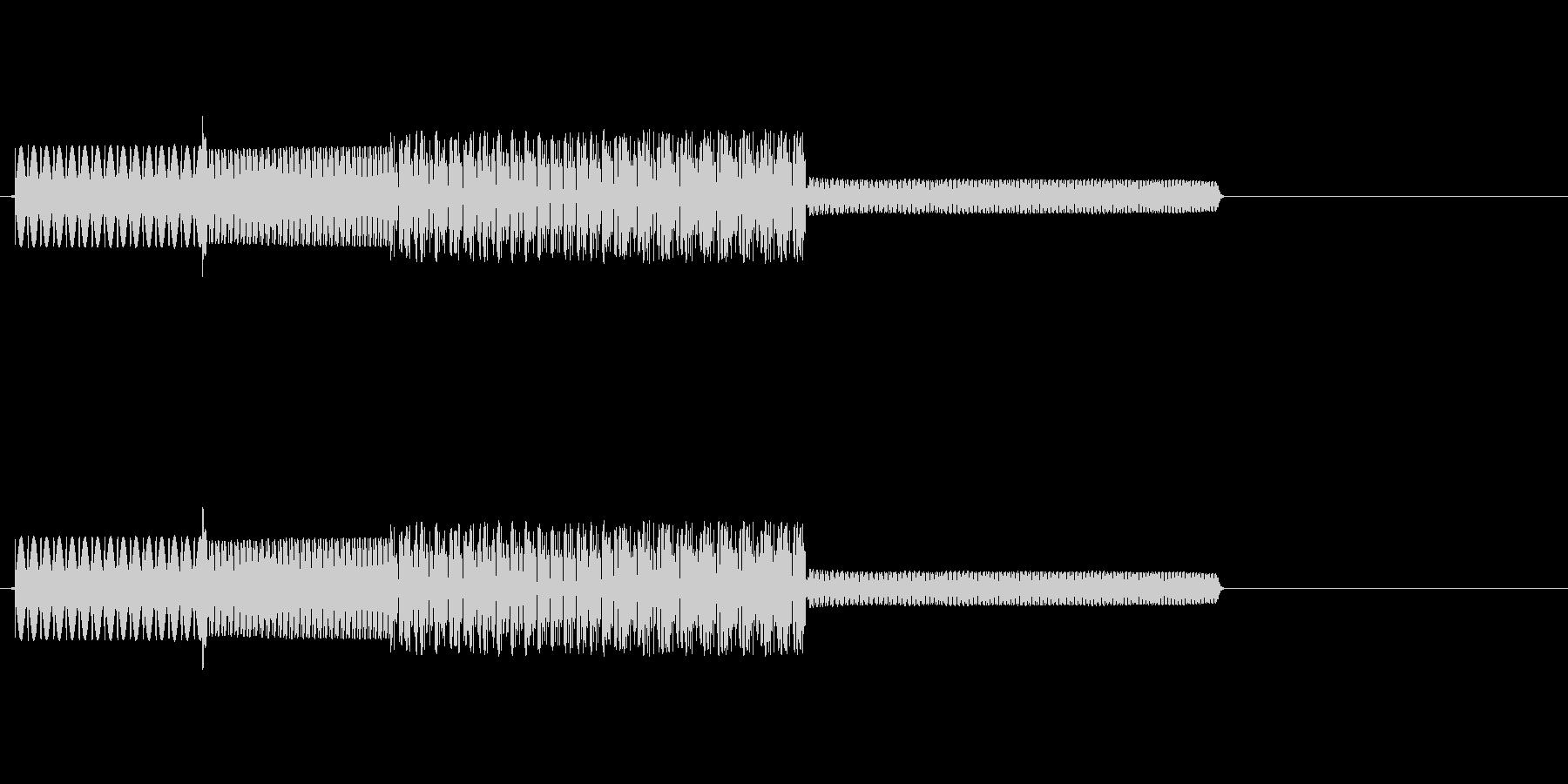ファミコン風効果音(ぶわっ)の未再生の波形