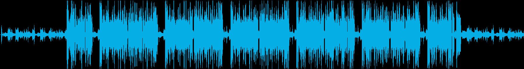 低音やその他の電子音が歪んだ、重く...の再生済みの波形