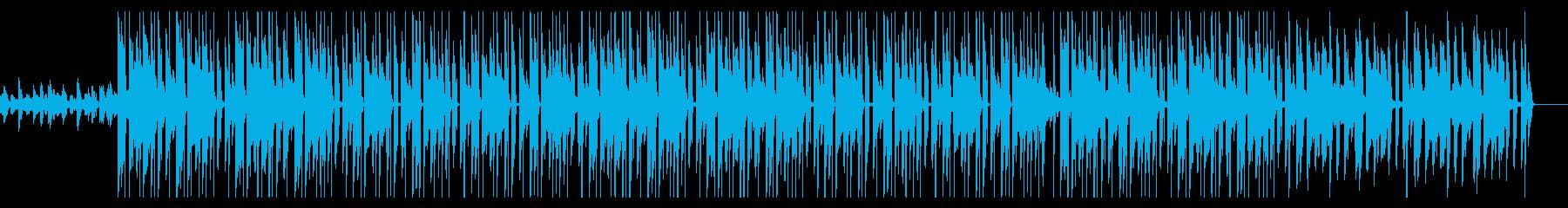 勉強用 穏やかなチルヒップホップ効果音無の再生済みの波形