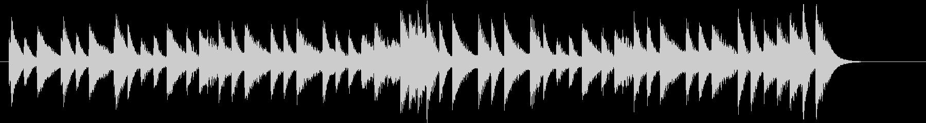 ジングルベルモチーフのピアノジングルAの未再生の波形
