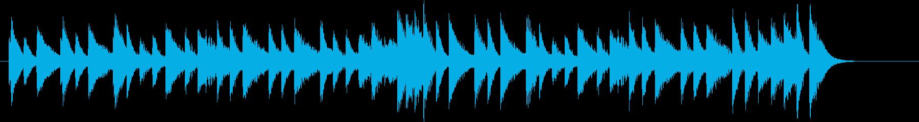 ジングルベルモチーフのピアノジングルAの再生済みの波形