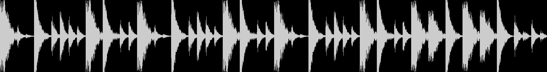 ドラムンベースのリズムループパターン05の未再生の波形