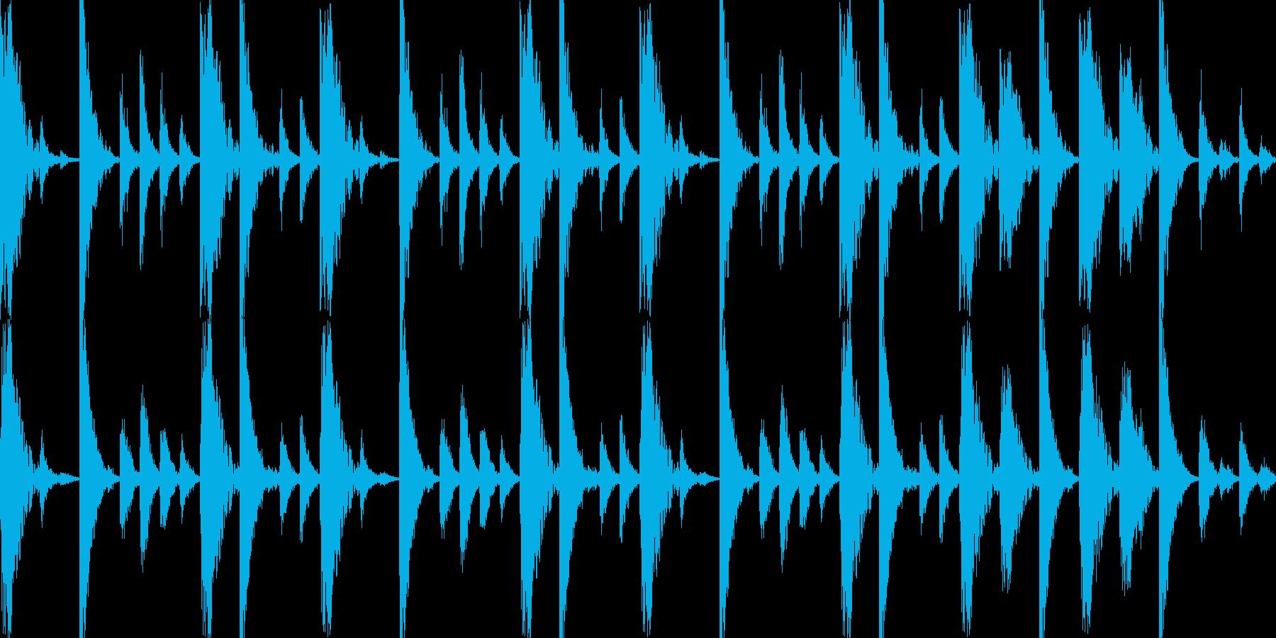 ドラムンベースのリズムループパターン05の再生済みの波形