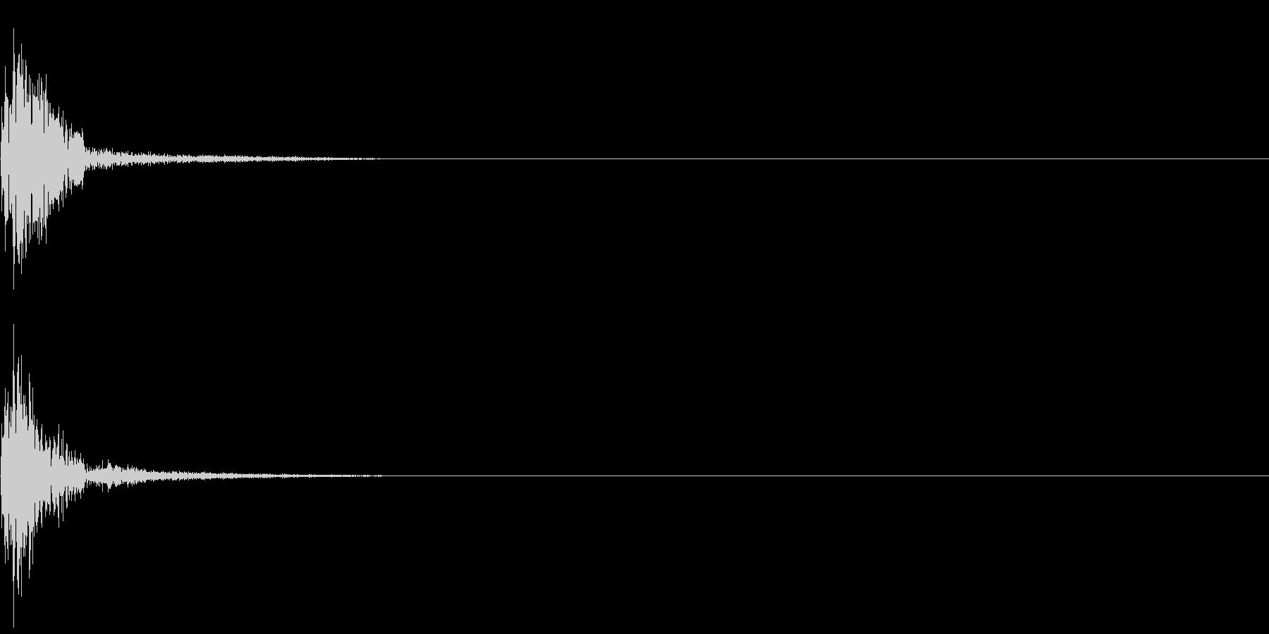 ジャン(決定音・スタート音)の未再生の波形