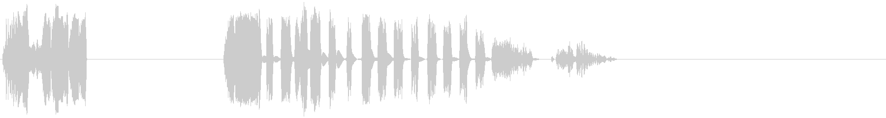 DJスキッドX2の未再生の波形