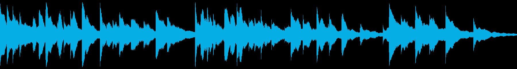 どこか懐かしい感じのオルゴールの再生済みの波形