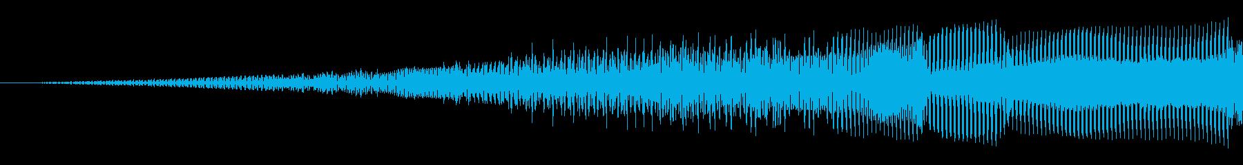 パワーグリッチスイープの再生済みの波形