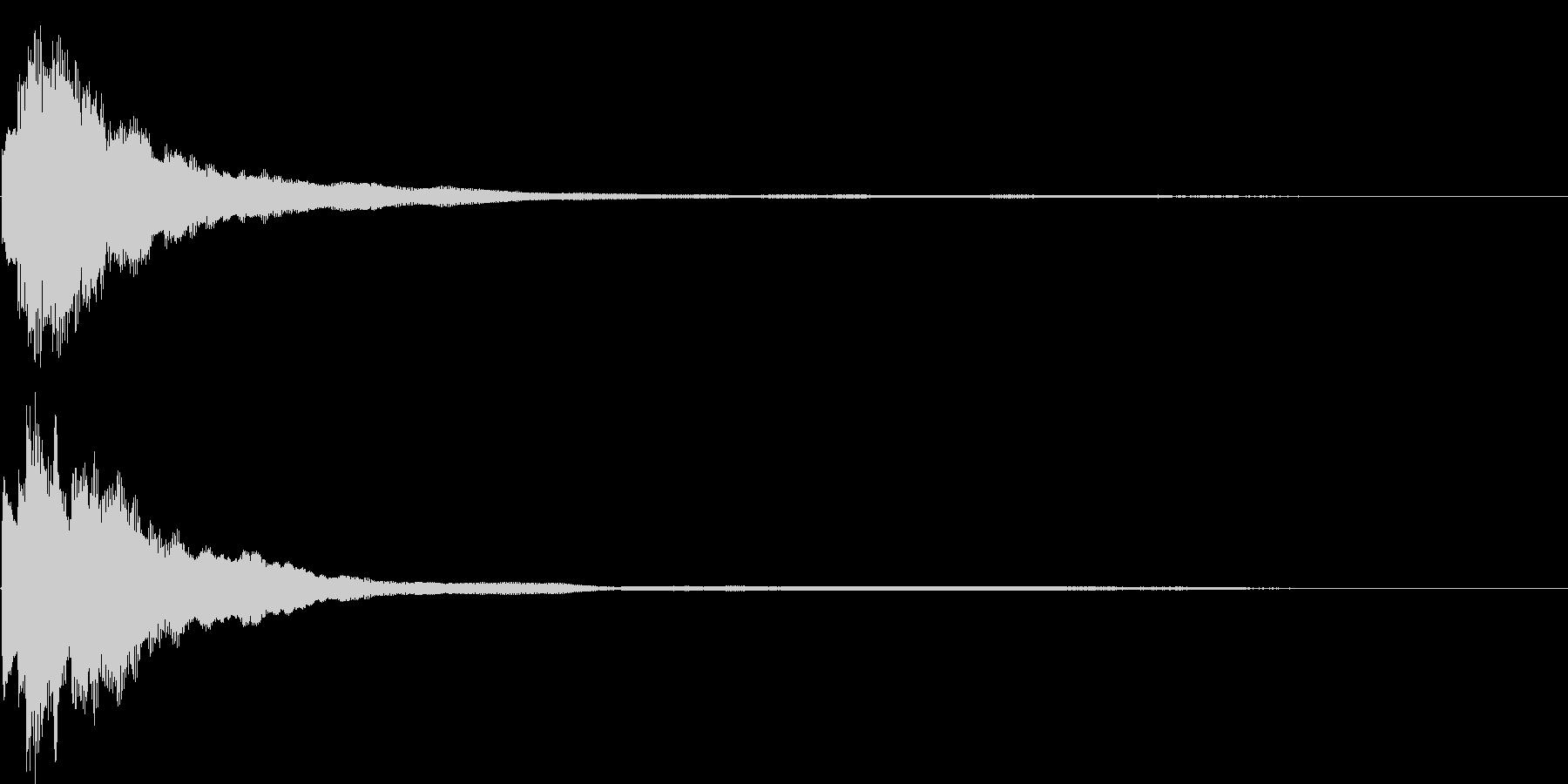 ピアノの高音域でできたキラキラ音です。の未再生の波形