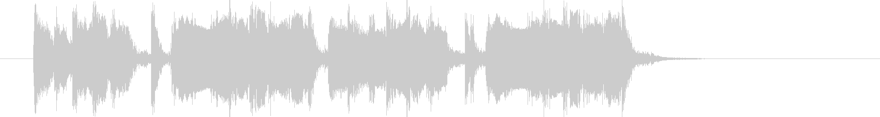 ギター効果音の未再生の波形