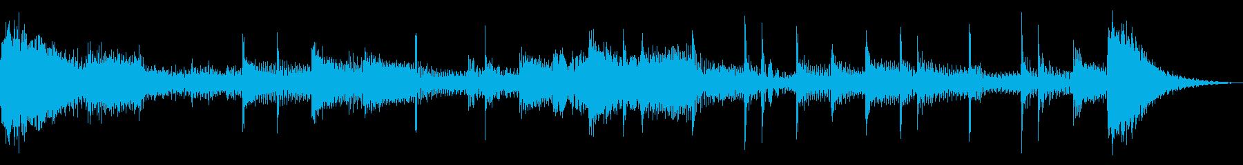 ダークなEDM風のジングルの再生済みの波形