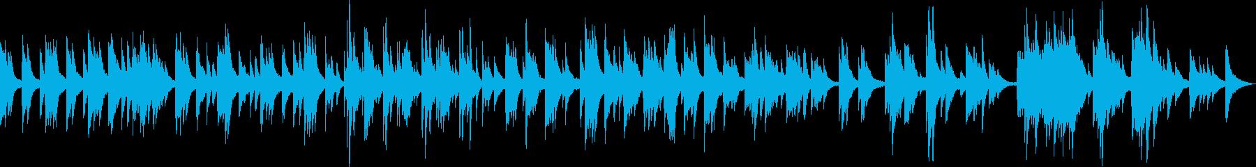 さりげなく優しいイメージのピアノ曲の再生済みの波形