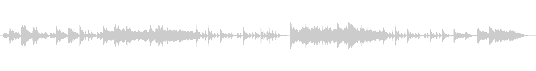 静かなピアノ曲(ヒーリングミュージック)の未再生の波形