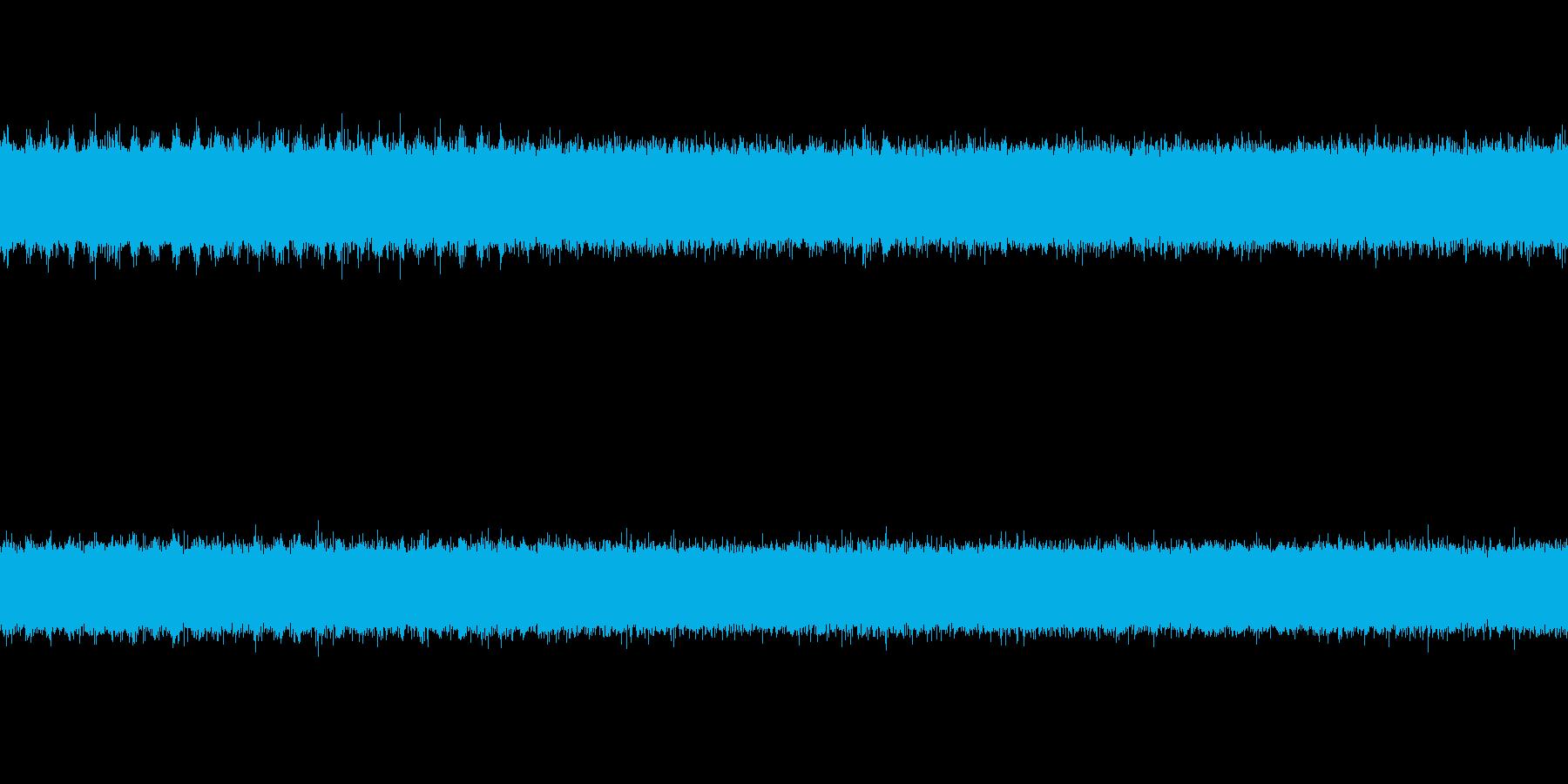 川の音とセミの声の再生済みの波形