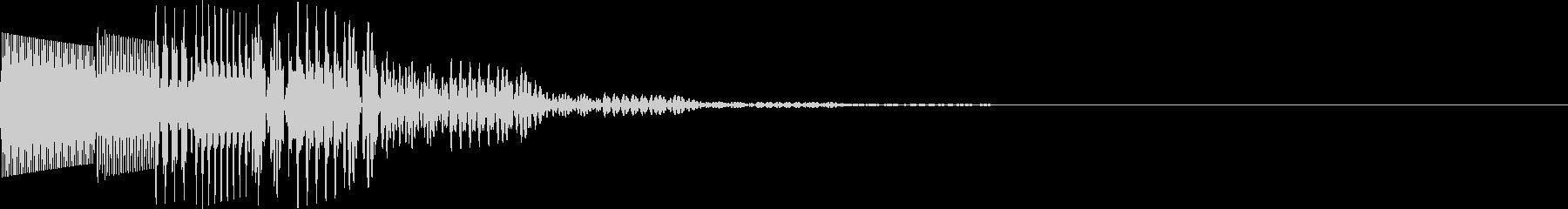ポロロン(キャンセル、アイテム表示)の未再生の波形