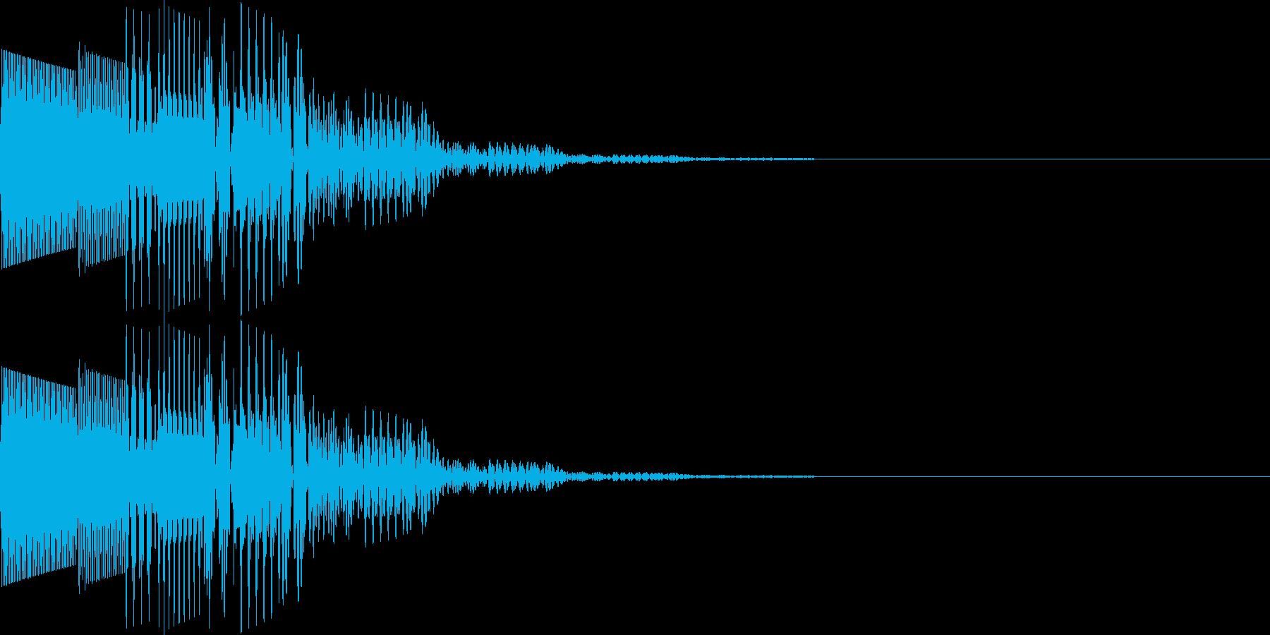 ポロロン(キャンセル、アイテム表示)の再生済みの波形