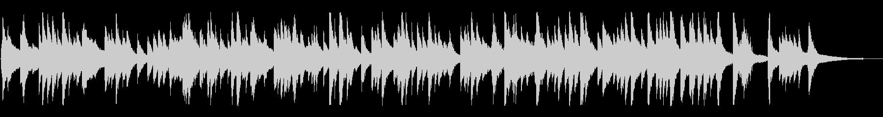 ジャズ風のゆったりしたラウンジピアノソロの未再生の波形
