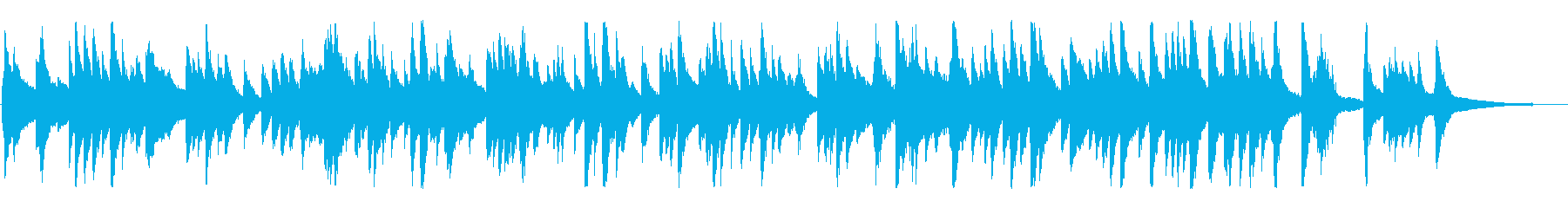 ジャズ風のゆったりしたラウンジピアノソロの再生済みの波形