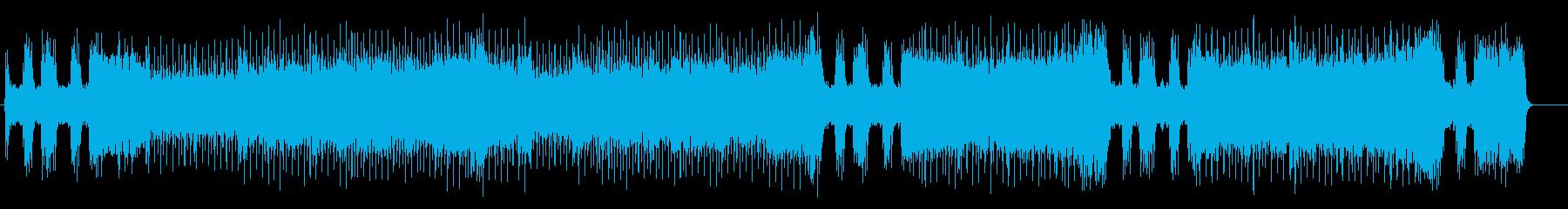 男らしいブルースロック風ゲームBGMの再生済みの波形