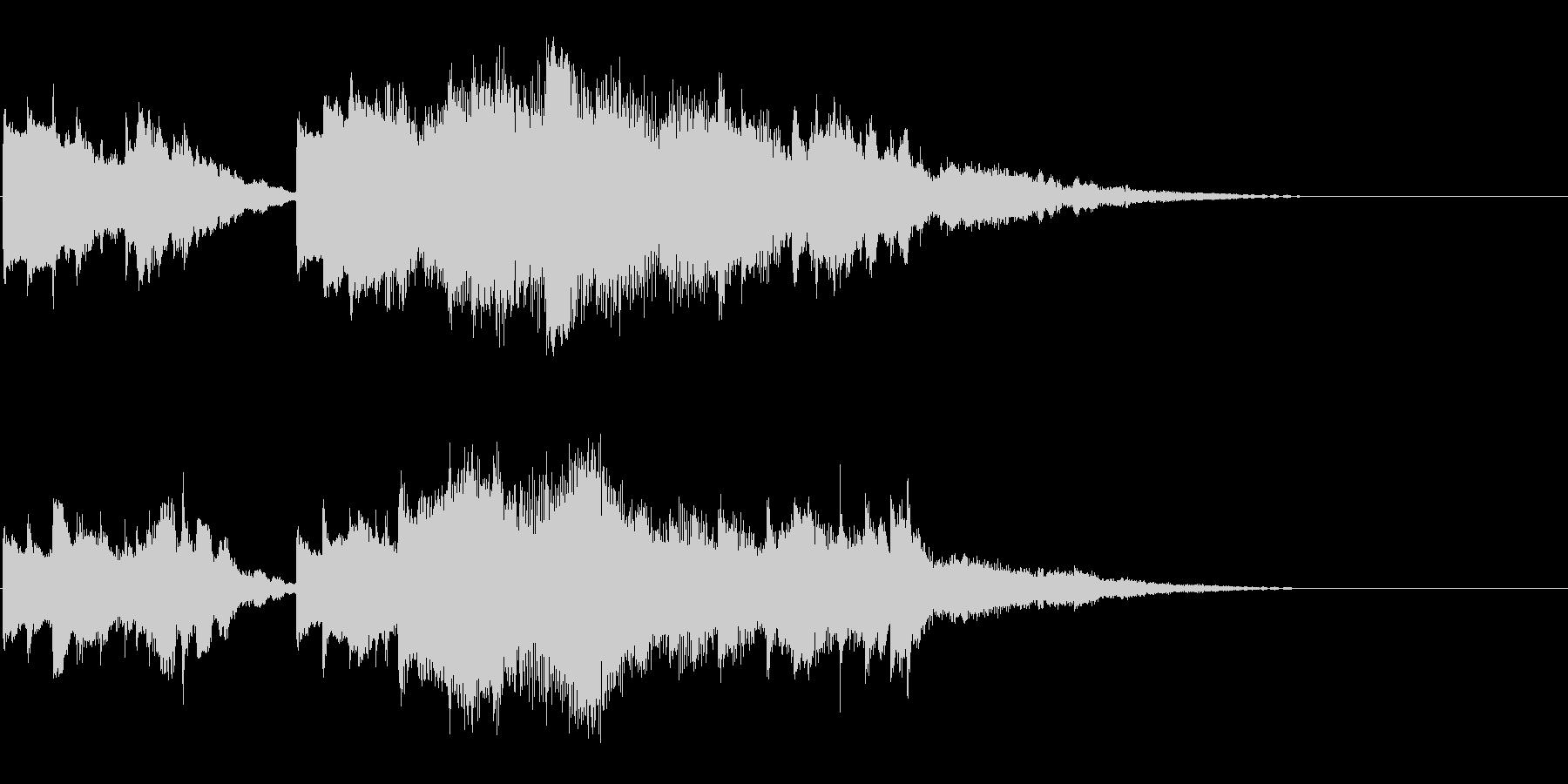 切ないピアノの幕開けの未再生の波形