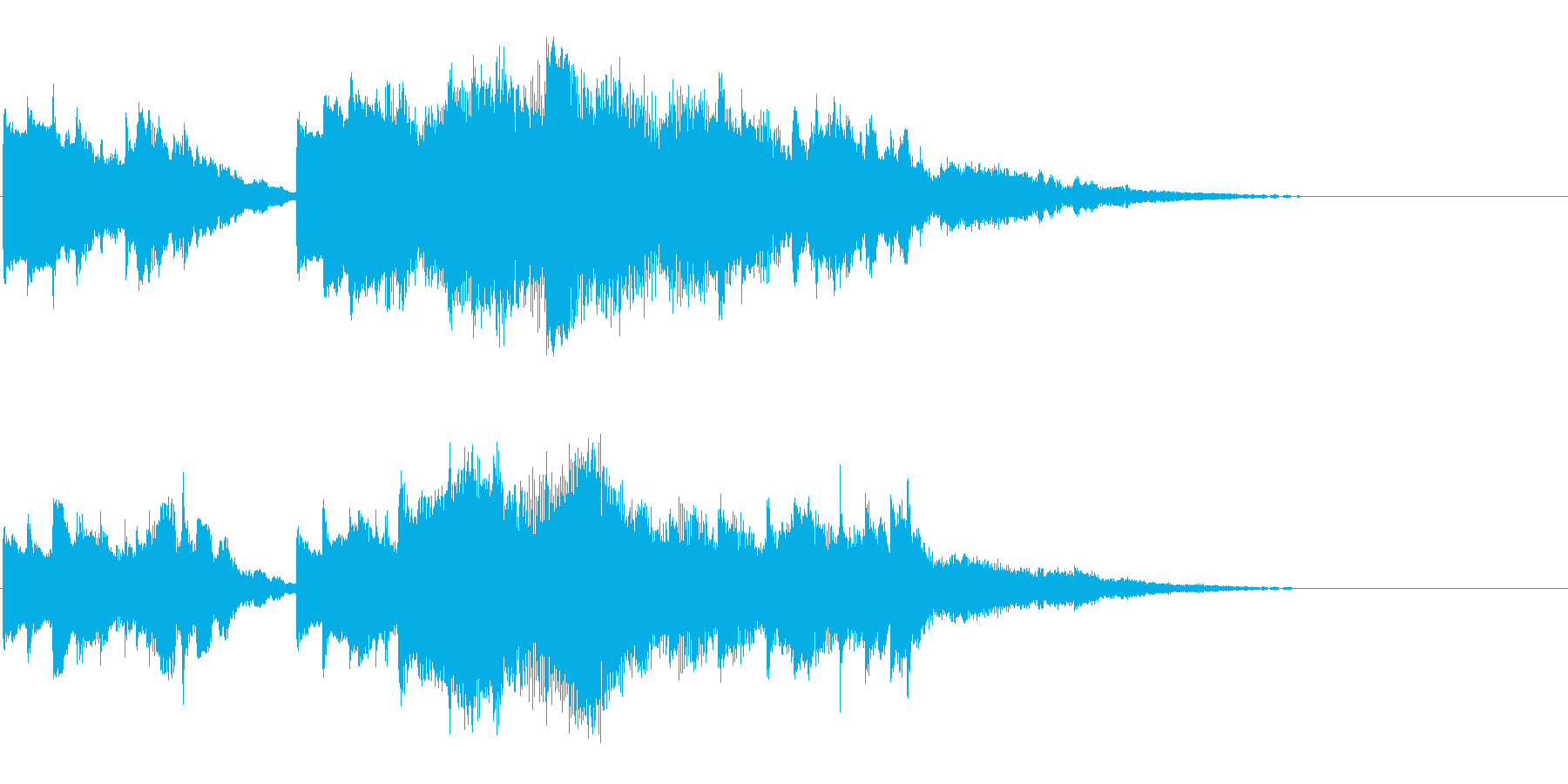 切ないピアノの幕開けの再生済みの波形