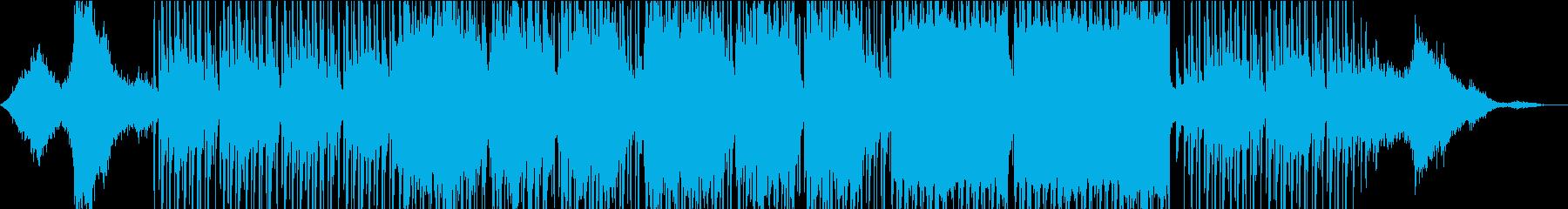 南国風の男女ボーカルがラララで歌う曲の再生済みの波形