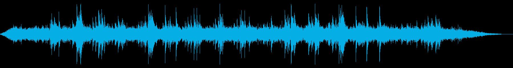 抽象的で軽やかなピアノのアンビエントの再生済みの波形