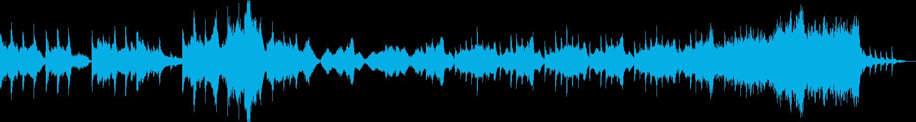 チェロの奏でるドラマチックな曲調の再生済みの波形