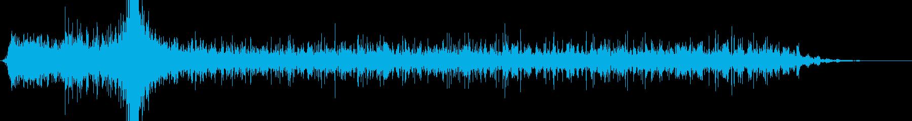 毒液を吐いて纏わりつくような音の再生済みの波形