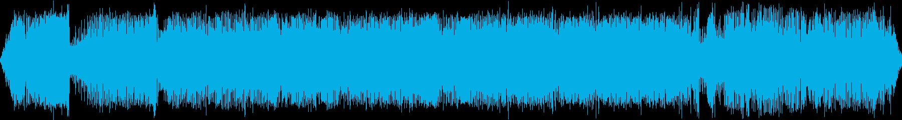 蒸気機関車の走行音の再生済みの波形