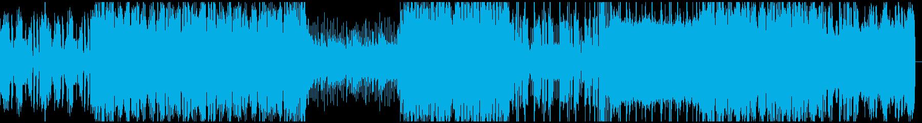 おしゃれで可愛らしいシンセ主体の曲の再生済みの波形