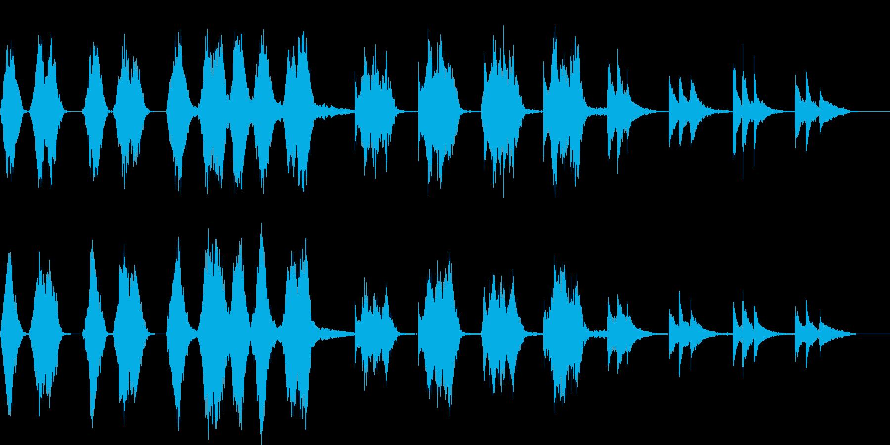 ストリングスとピアノの余韻ある楽曲の再生済みの波形