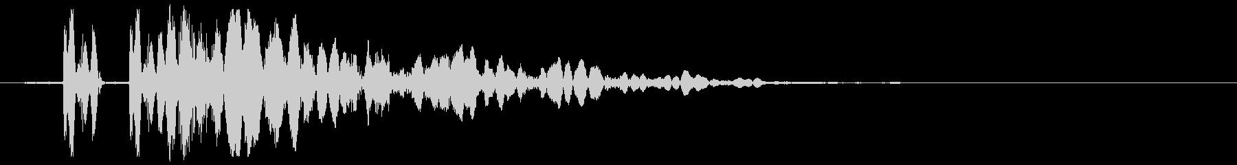 EDM/IDM系の埋もれないバスドラ2bの未再生の波形