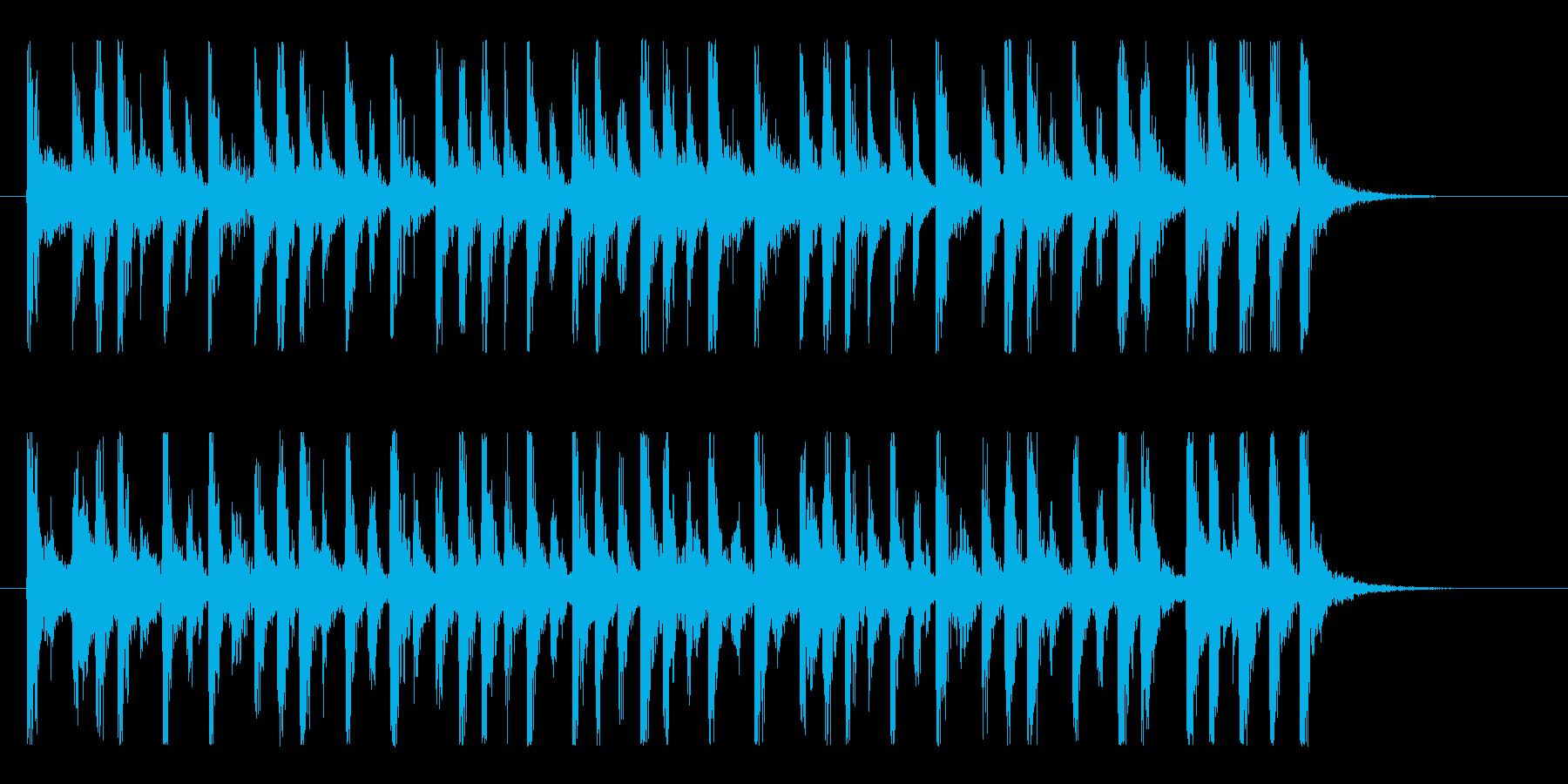 陽気なサンバ!ラテンパーカッションロゴ!の再生済みの波形