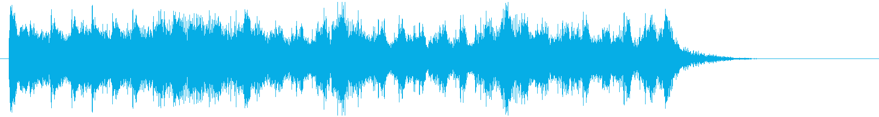 アップテンポな疾走感のある音楽の再生済みの波形
