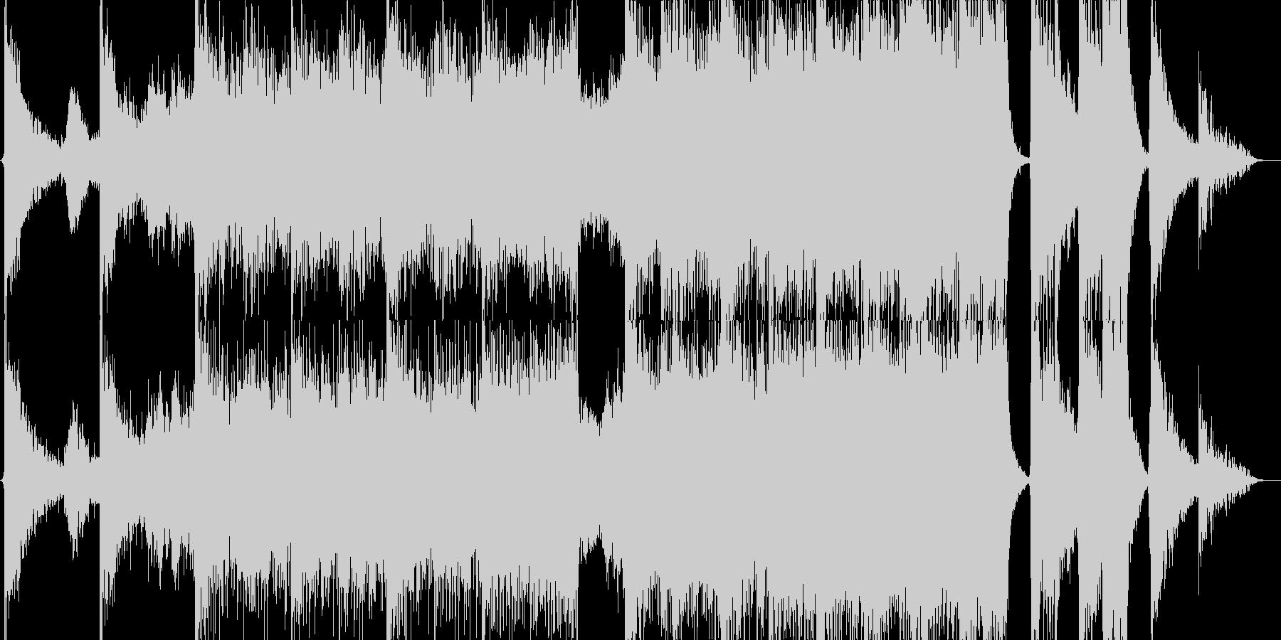 ハリウッドトレーラーイントロの未再生の波形