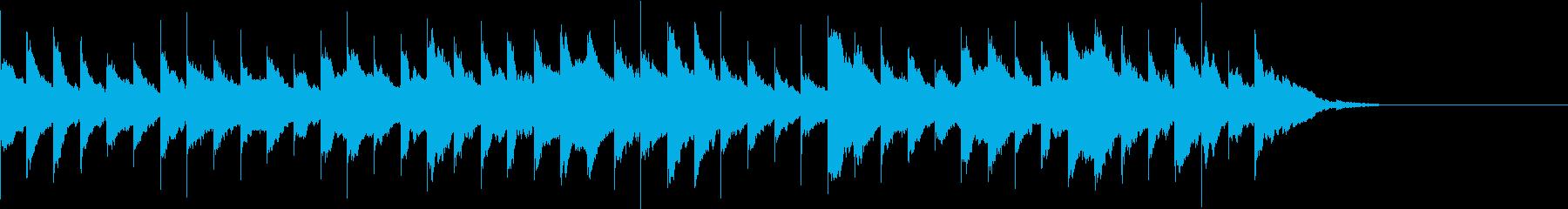 可愛らしい、ほのぼのとしたオルゴール曲の再生済みの波形