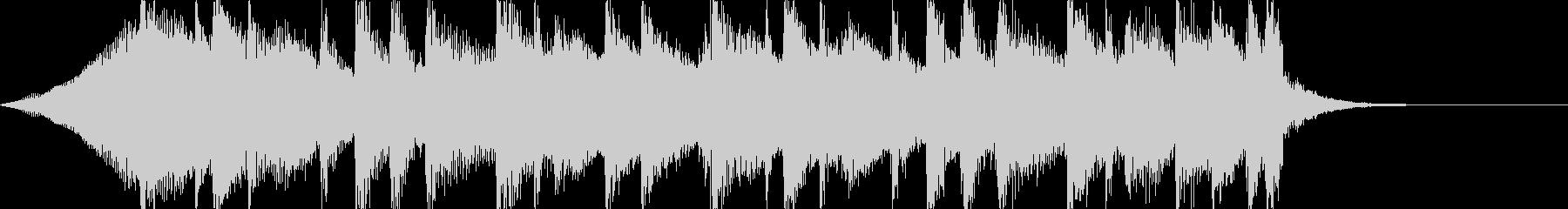 透明感あるアコギのサウンドロゴ、ジングルの未再生の波形