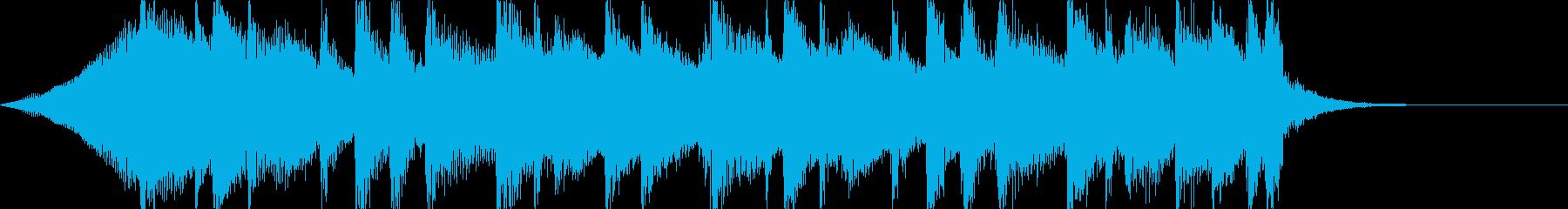 透明感あるアコギのサウンドロゴ、ジングルの再生済みの波形