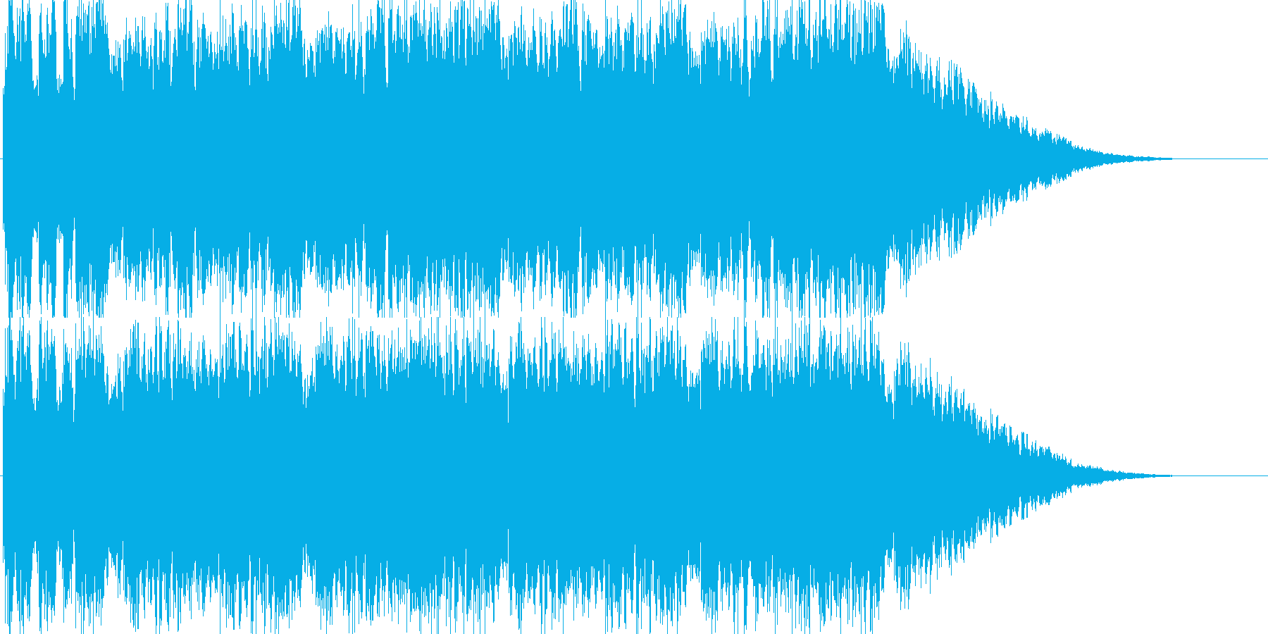 戦闘に勝った後の勇ましい音楽の再生済みの波形