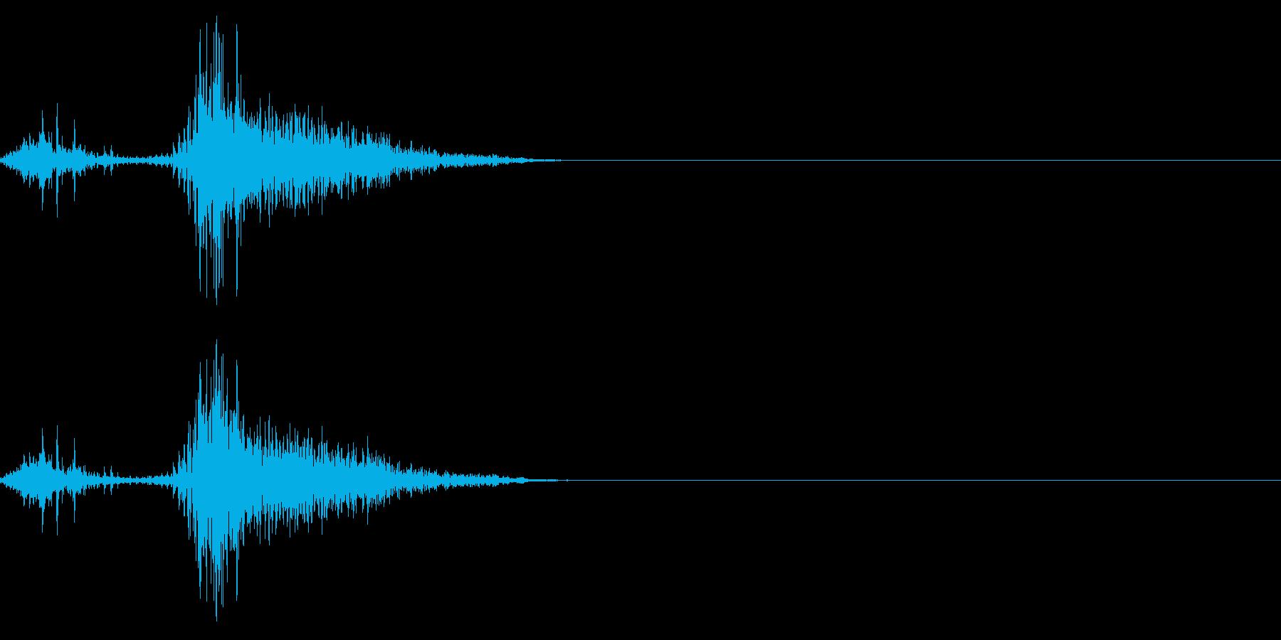 くしゃみの効果音(日本人/女性)02の再生済みの波形
