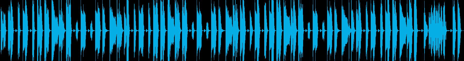 【ループ対応】コミカル&日常的な楽曲の再生済みの波形