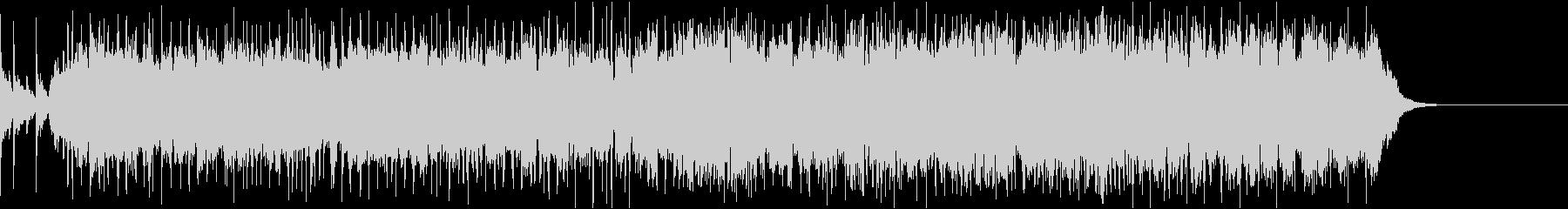 ハードなギターリフとドラムによるBGMの未再生の波形