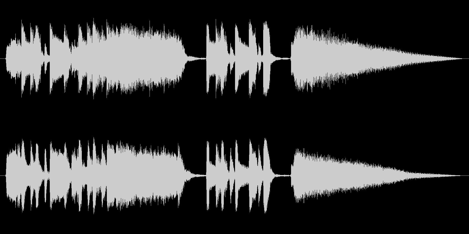 キュートでコミカルなショートミュージックの未再生の波形