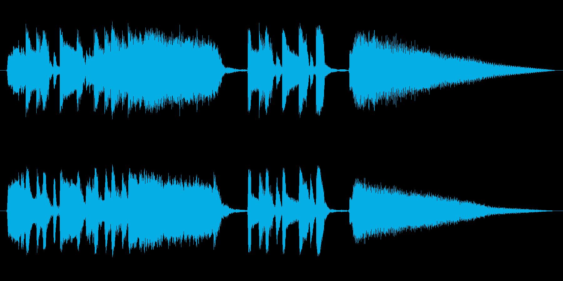 キュートでコミカルなショートミュージックの再生済みの波形
