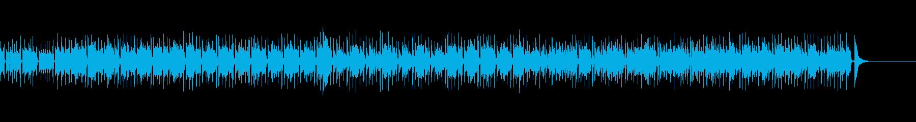 のんびりしたスローライフBGMの再生済みの波形