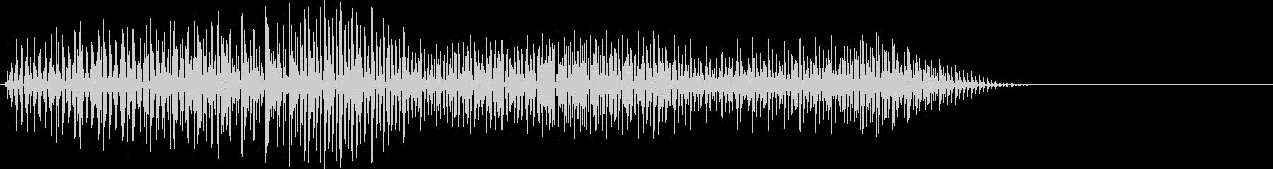ピロ・決定音・選択音・デジタルの未再生の波形