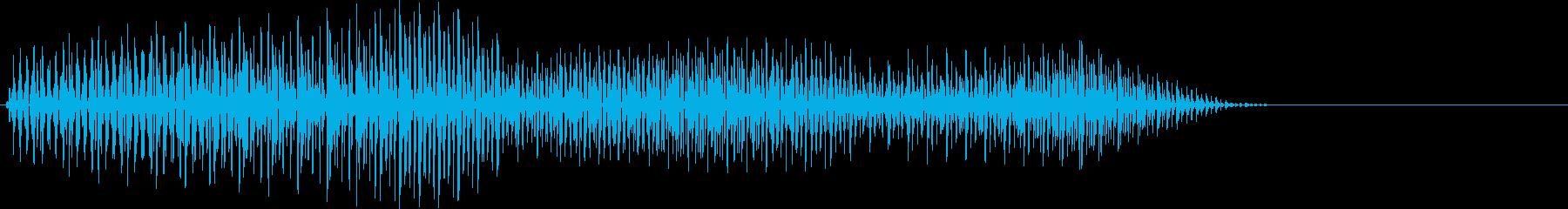 ピロ・決定音・選択音・デジタルの再生済みの波形