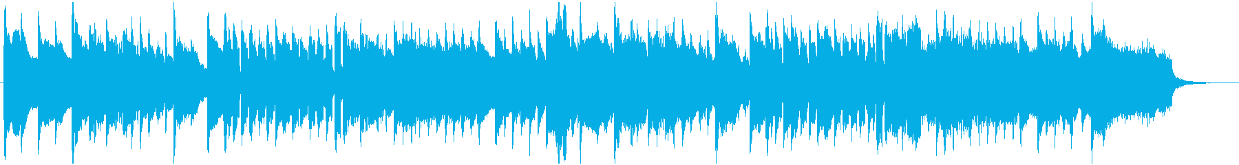 ハープシコードとストリングスの再生済みの波形