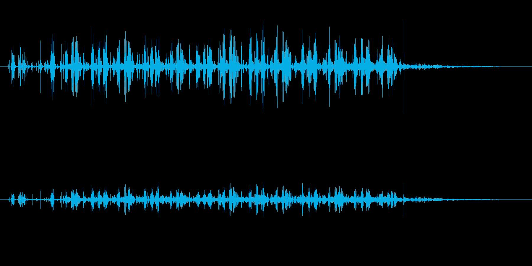 ノイズ 砕いたフェイクサンダー02の再生済みの波形