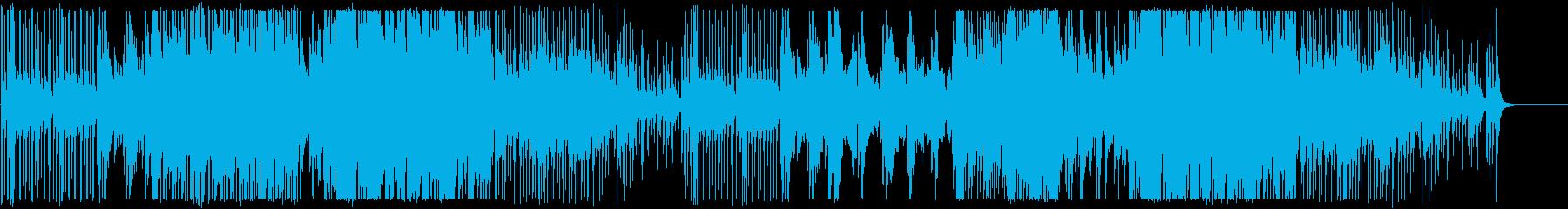 三味線のかっこいい和風、尺八ソロあり版の再生済みの波形